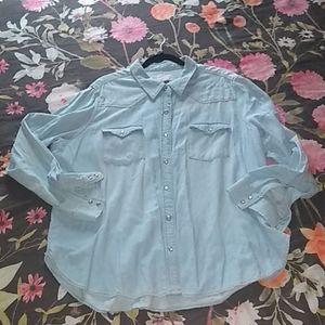 Universal Thread chambray button down shirt